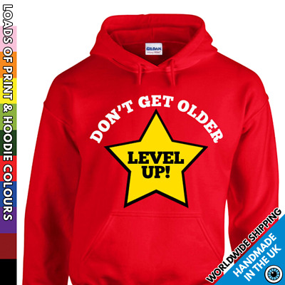 Kids Level Up Hoodie - Video Game Inspired Funny Boys Girls Childrens Hooded Top