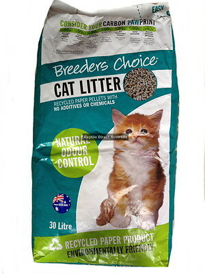 AVF-489 Breeders Choice Cat Litter 30L small animal absorbent clumping recycled