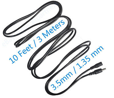 10ft 3M DC 5V Extension Power Cable Cord 4 IP Camera Security Camera 3.5*1.35mm