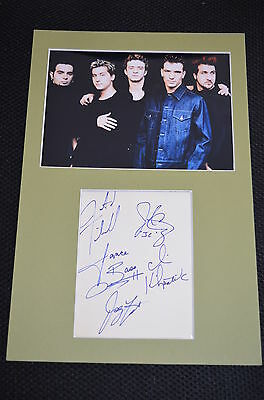N´SYNC signed  Autogramm In Person 20x30 cm  Passepartout JUSTIN TIMBERLAKE