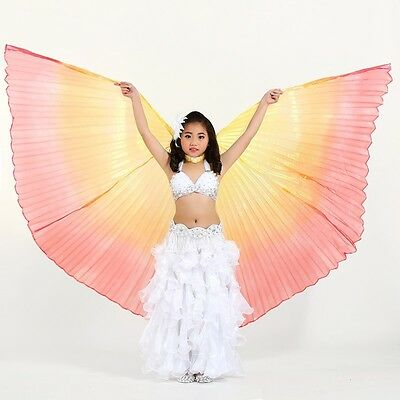 Belly Dance Costume Children Kids Girls Isis Wings 4 Colors