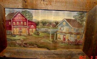 Barn Wood Frame By American Art & Frame With A Picture On Tin