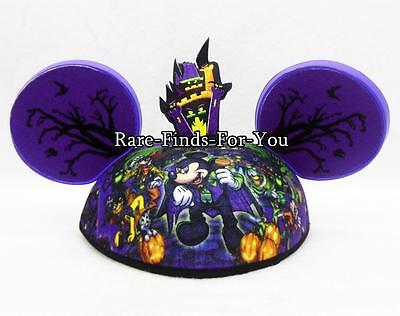 Disney Parks Haunted Halloween Vampie Mickey and Friends Adult Ear Hat Cap (NEW)