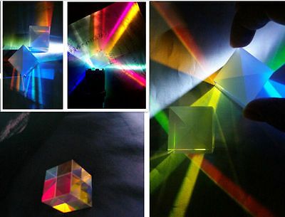 4 PCS Defective X-Cube Prism Cross Dichroic RGB Combiner Splitter f Teaching