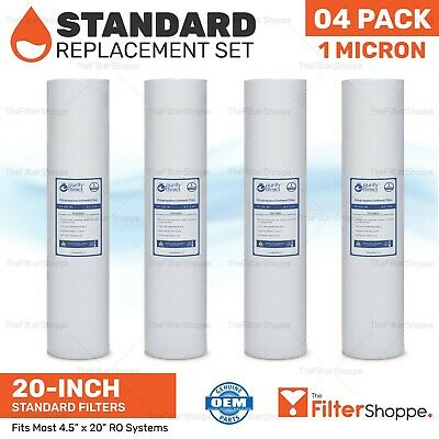 Replacement 4 Big Blue Sediment Water Filters | 4.5 X 20"