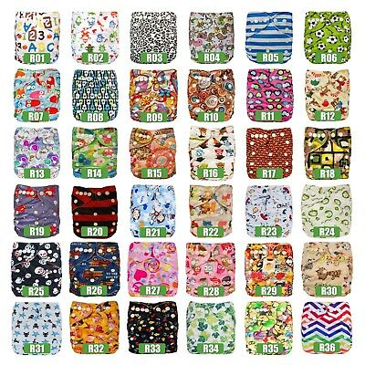 10 Baby Cloth Nappies + 20 Inserts Liners Reusable Adjustable - My Little Ripple
