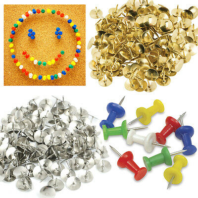 Push Pins Drawing Thumb Map Tack Pin Board Notice Office Paper Stationery Brass