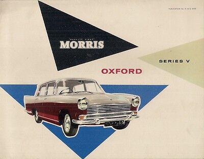 Morris Oxford Series V Saloon 1960-61 UK Sales Brochure