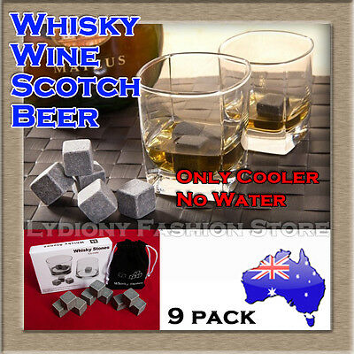 New Reusable Whiskey Wine Scotch Ice Cube Rocks Set Stone Cooler Cubes For Party