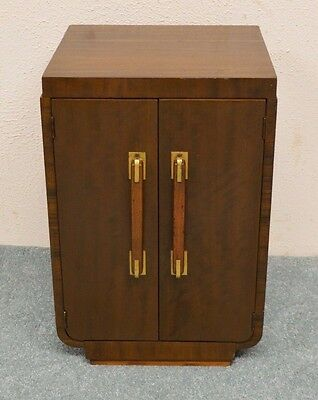 Vintage Art Deco Mahogany Night Stand End Table Bedside Cabinet