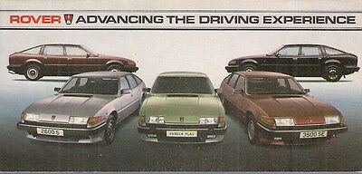 Rover SD1 1982 UK Market Launch Small Format Foldout Sales Brochure