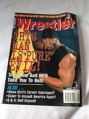 THE WRESTLER magazine August  1999  WWE WCW
