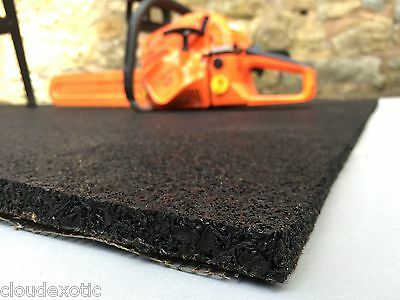 🔧 RUBBER Gym Mat COMMERCIAL Flooring 15mm EXTRA THICK garage workshop mats!! 🔨