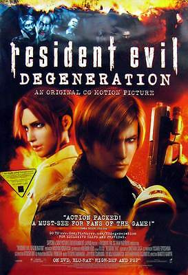 Resident Evil:Degeneration  Movie DVD Single Sided Original Collectiible Poster