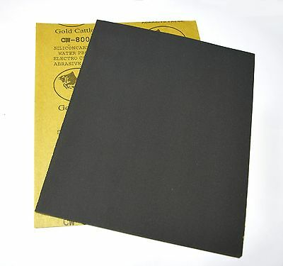 "Sandpaper 800 Grit 9"" x 11"" Wet Dry Abrasive Paper Waterproof Silicon Carbide"
