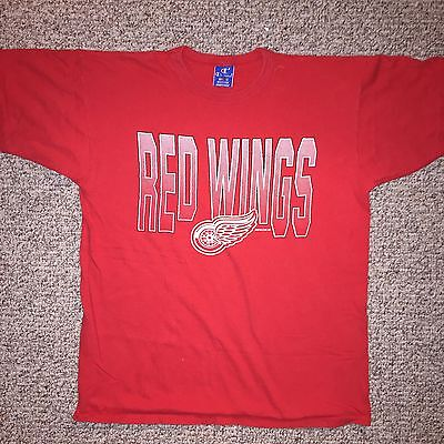 Vintage Authentic NHL Detroit Red Wings champion T Shirt Jersey XL