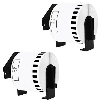 2 Pack Compatible For Brother DK-2205 Premium Continuous Paper Label Tape QL-700