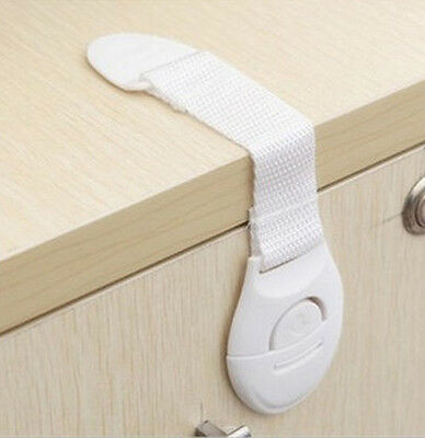 Set of 8 Baby Safety Lock Prevent Accidents Cupboard Drawer Unit Fastener Clip