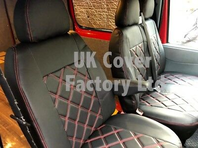 Vw Transporter T5 Van Seat Covers Red  Bentley Stitch Tailored X150Ar In Stock!!