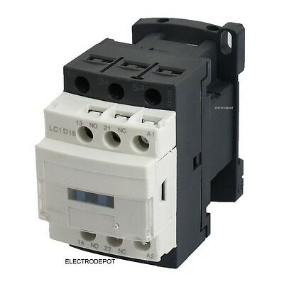 Contactor 30Amp 3 Pole 120V coil, 18A Motor Control, Lighting Heating 25A 20A AC