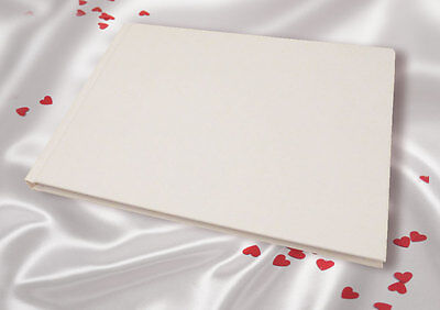A5 White Linen Finish Wedding Guest Book complete with box