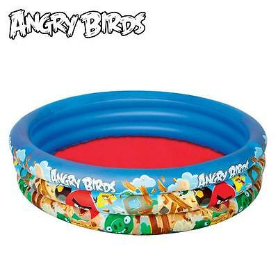 Bestway Toys Domestic Angry Birds Inflatable 3-Ring Children's Paddling Pool