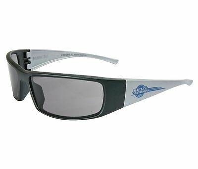 Harley Davidson HD1401 Safety Glasses Glasses Black Silver Frame Gray Lens
