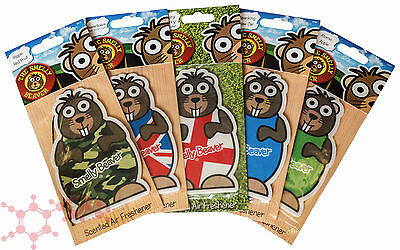 Smelly Beaver Car Air Freshener 5 Pack ~ Magic Tree Scents Car Home Office