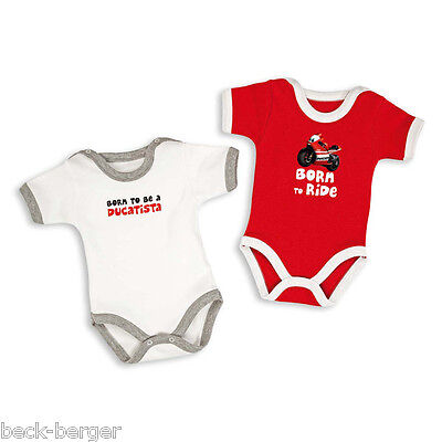 DUCATI CORSE ´12 Baby Body Rompers Set 2 Pieces One Piece Red White NEW