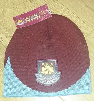 west ham united football club wool hat whufc the hammers