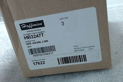 NIB lot of 3 Hoffman HB32477  ADP  45X200  2 DIN  - 60 day warranty