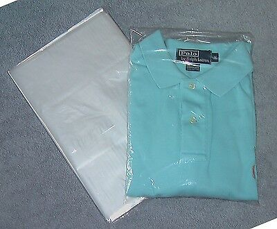 "100 - 9 x 12 T Shirt Clear Poly Bags 1 MIL Plastic - 2"" Flap - Shipping Bag"