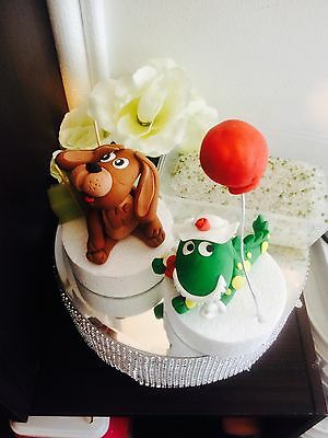 Edible Dorothy Dinosaur and Dog Wags 'The Wiggles' inspired Fondant Cake toppers