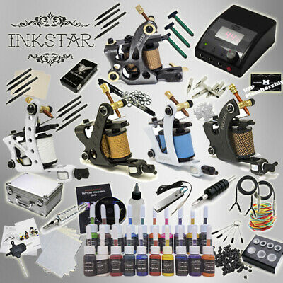 Complete Tattoo Kit Professional Inkstar 5 Machine Ace CASE Set GUN 40 Color Ink