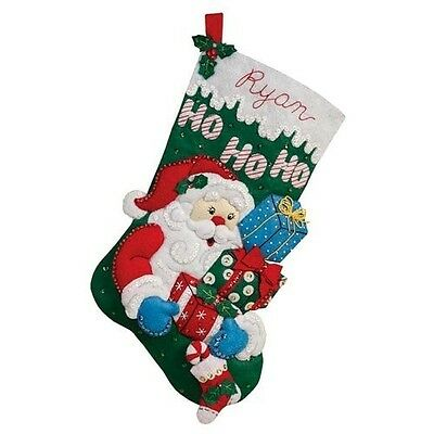 Bucilla Felt Applique Christmas Stocking Kit: Santa's Gifts. Delivery is Free