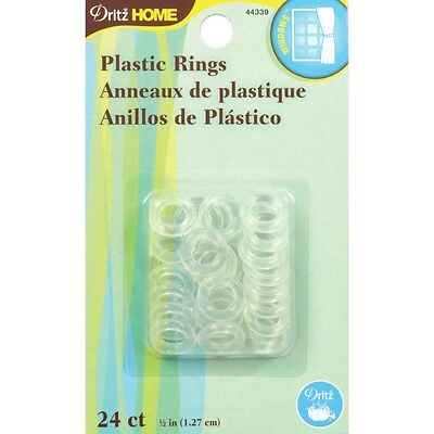 1.3cm Plastic Rings 24/Pkg-Clear. Best Price