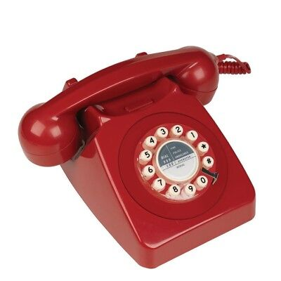 1960s Retro Style Desk Telephone | Series 746 - Red