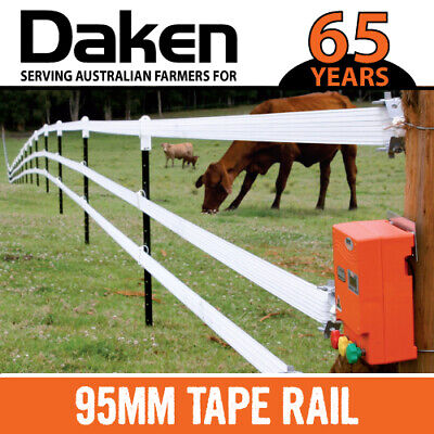 100M Electric Fence Tape 95mm Width, 8 Heavy Duty Wires WIDE HORSE TAPE RAIL