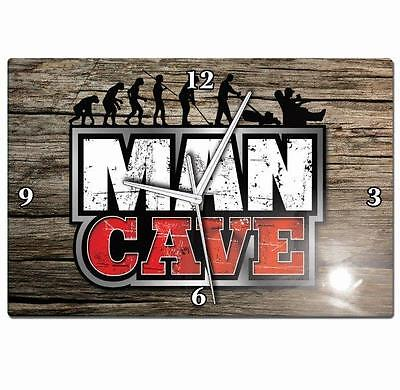 Official Licensed MAN CAVE Clock Great for your Pool Cue Room Christmas Gift