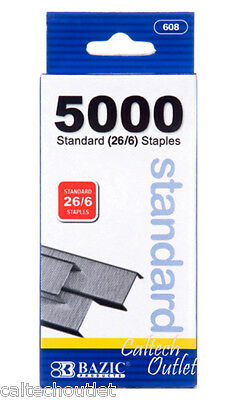 5000 PCS Standard Staples Pins Staples up to 20 Sheets/20Lb Paper