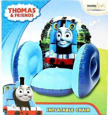 Thomas & Friends Inflatable Chair - Comfy Blow Up Boys Sofa Chair New