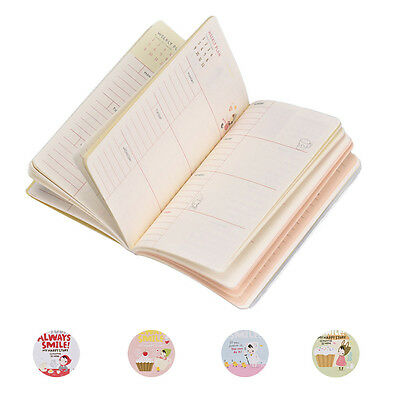 Cartoon Cute Hard Cover Diary Notebooks Red Hat Girl Agenda For Weekly Planner