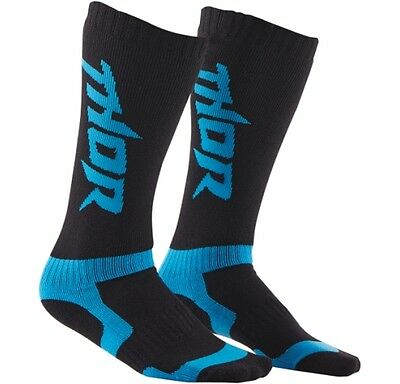 Thor Motocross Socks Standard Black and Blue Youth/Kids