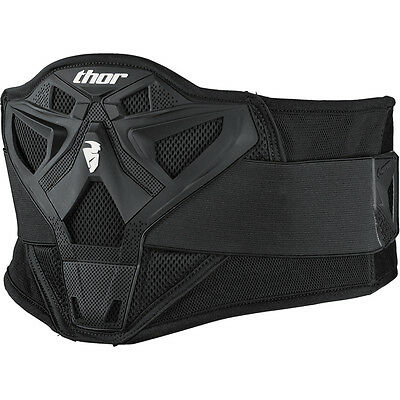 "THOR Sector Kidney Belt Adult Black One size upto 38"" Waist  MX Enduro & Offroad"