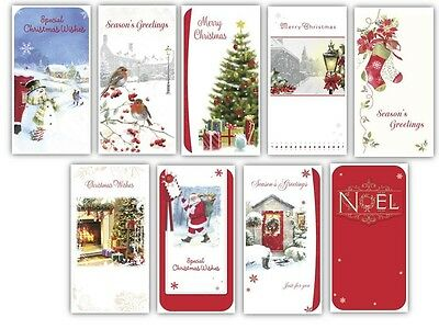 Pack Of 9 Christmas Money Wallet Gift Cards & Envelopes - Traditional