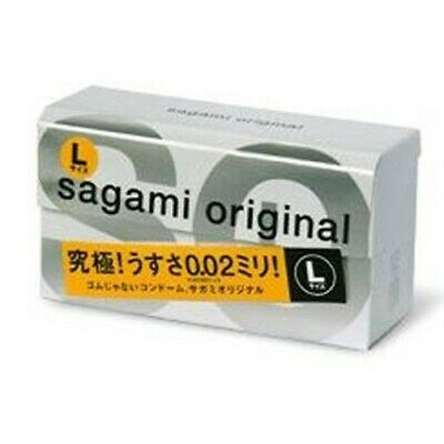 USA Seller Japanese Sagami Condom Original Large 0.02 12 Pc Trojan Durex Trustex