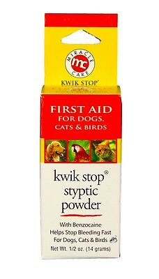 Kwik Stop First Aid Styptic Powder with Benzocaine (14 g)