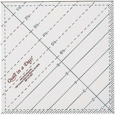 Quilt In A Day Triangle Square Up Ruler. Delivery is Free