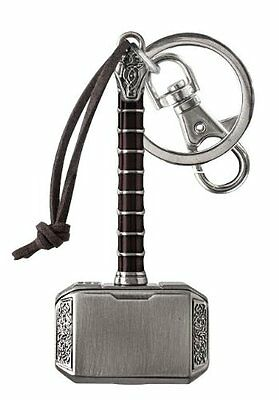 Metal Key Chain - Marvel - Thor 2 Hammer Pewter Keyring Gifts Toys New 67868