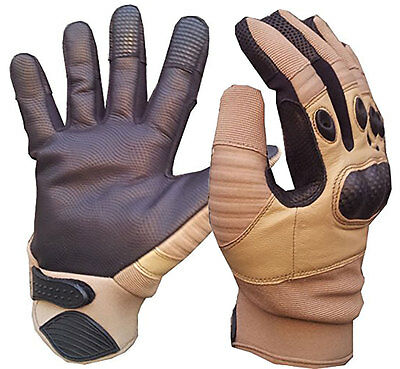 Coyote Tan / Sand Tactical Special Ops Kevlar Shooters GLOVES S-XL (Hard Knuckle